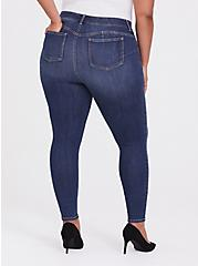 Plus Size Bombshell Skinny Jean - Premium Stretch Dark Wash, EMERSON, alternate