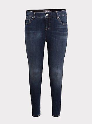 Plus Size Bombshell Skinny Jean - Premium Stretch Dark Wash, EMERSON, flat