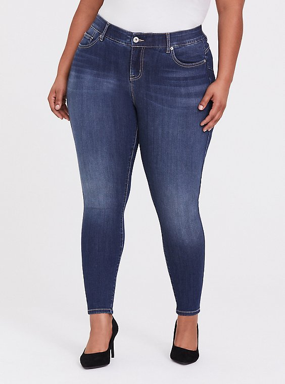 Plus Size Bombshell Skinny Jean - Premium Stretch Dark Wash, , hi-res