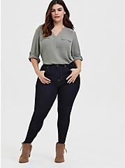 Plus Size Harper – Sage Green Georgette Pullover Blouse, MOON MIST, alternate