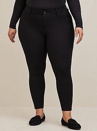 Bombshell Skinny Premium Ponte Pant - Black, DEEP BLACK, alternate