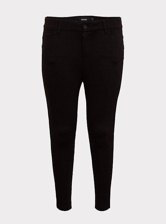 Bombshell Skinny Premium Ponte Pant - Black, , flat