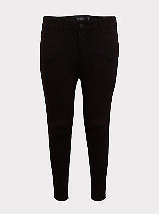 Bombshell Skinny Premium Ponte Pant - Black, DEEP BLACK, flat