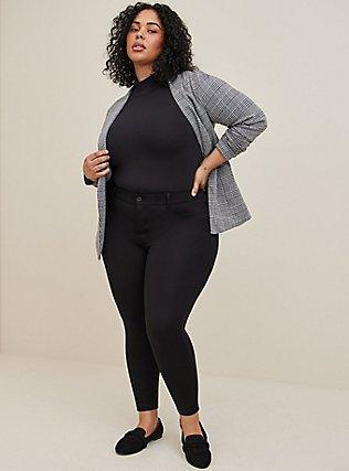 Bombshell Skinny Premium Ponte Pant - Black, DEEP BLACK, hi-res