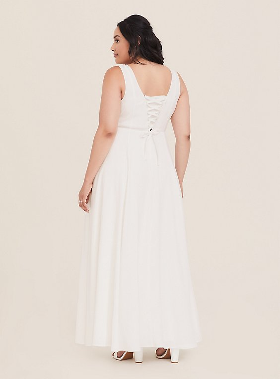 Special Occasion Ivory Jacquard Sweetheart Gown, , hi-res