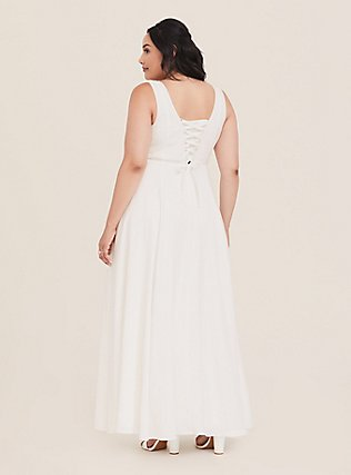 Special Occasion Ivory Jacquard Sweetheart Gown, CLOUD DANCER, hi-res