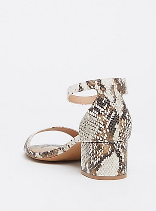 Snakeskin Print Faux Leather Ankle Strap Sandal (WW), ANIMAL, alternate