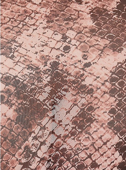 Snakeskin Print Mesh High-Waist Panty, , alternate