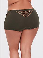 Olive Green Seamless Laser Cutout Boyshort Panty, MOON RIVER BLUE, alternate
