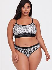 White & Black Leopard Seamless Thong Panty, LEOPARD-WHITE, alternate