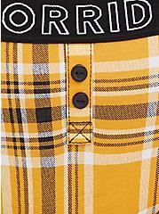 Plus Size Torrid Logo Yellow Plaid Cotton Boyfriend Cheeky Panty, PLAID - YELLOW, alternate