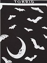 Torrid Logo Black Bat & Moon Cotton Hipster Panty, BATS AND MOONS–BLACK, alternate