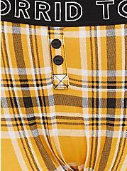 Torrid Logo Yellow Plaid Cotton Boyfriend Boyshort Panty, PLAID - YELLOW, alternate