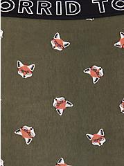 Plus Size Torrid Logo Olive Green Fox Print Cotton Boyfriend Cheeky Panty, FOX-GREEN, alternate