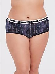 Torrid Logo Tie-Dye Cotton Cheeky Panty, TIE DYE-BLACK, hi-res