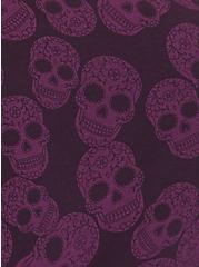 Torrid Logo Burgundy Purple Sugar Skull Cotton Hipster Panty, SKULL - PURPLE, alternate