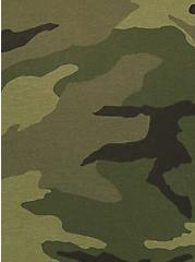 Torrid Logo Camo Print Cotton Boyshort Panty, CAMO-GREEN, alternate