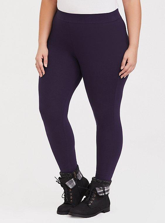 Premium Legging - Deep Purple, , hi-res