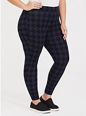 Premium Legging - Houndstooth Navy & Black , HOUNDSTOOTH PLAID, hi-res