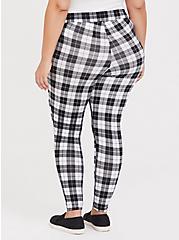 Premium Legging - Plaid Black & White, PLAID, alternate