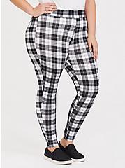 Premium Legging - Plaid Black & White, PLAID, hi-res