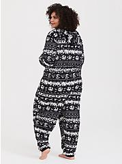 Disney Nightmare Before Christmas Black Fair Isle Sleep Onesie, MULTI, alternate