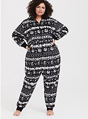 Disney Nightmare Before Christmas Black Fair Isle Sleep Onesie, MULTI, hi-res