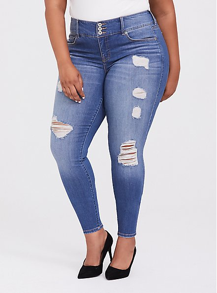 Jegging - Premium Stretch Medium Wash, HEARTTHROB, hi-res