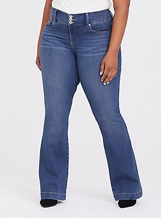 Flare Jegging - Super Stretch Medium Wash, EASTLAKE, hi-res