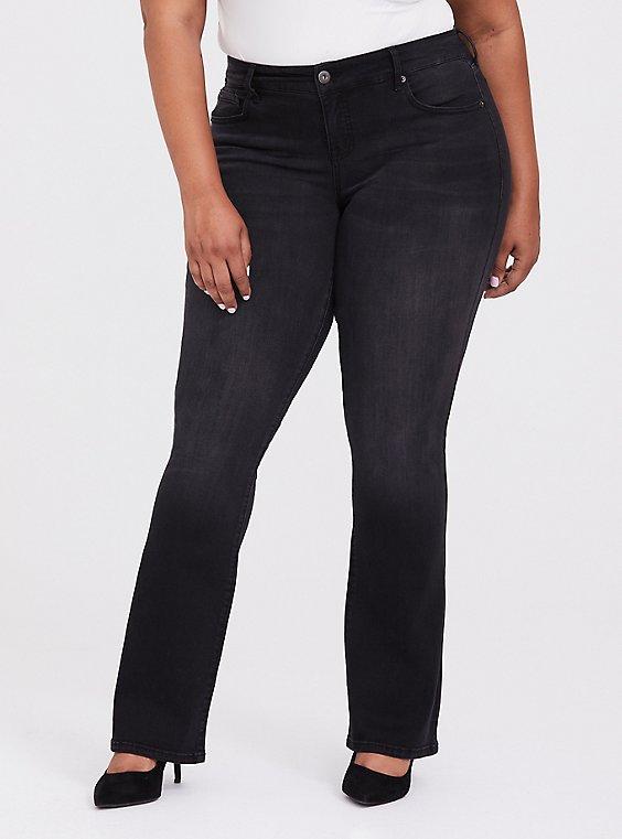 Slim Boot Jean - Premium Stretch Washed Black, COOL CAT, hi-res