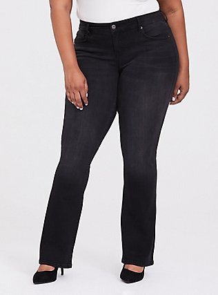 Slim Boot Jean - Premium Stretch Black, COOL CAT, hi-res