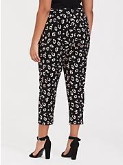 Studio Knit Tapered Pant - Black Leopard, LEOPARD, alternate