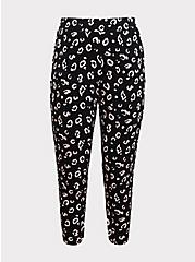 Studio Knit Tapered Pant - Black Leopard, LEOPARD, hi-res