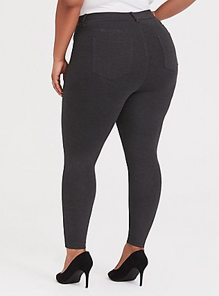 Bombshell Skinny Premium Ponte Pant - Charcoal Grey, CHARCOAL, alternate