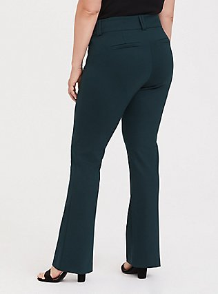 Studio Signature Premium Ponte Stretch Trouser - Green, FOREST, alternate