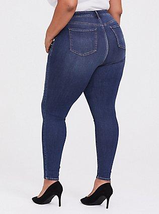Sky High Skinny Jean - Premium Stretch Dark Wash, THAMES, alternate