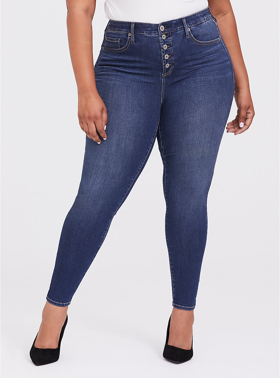 Sky High Skinny Jean - Premium Stretch Dark Wash, THAMES, hi-res