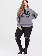 Her Universe Star Wars Grey Character Hoodie, HEATHER GREY, alternate