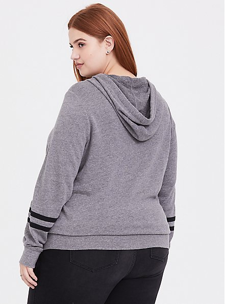 Plus Size Her Universe Star Wars Grey Character Hoodie, HEATHER GREY, alternate