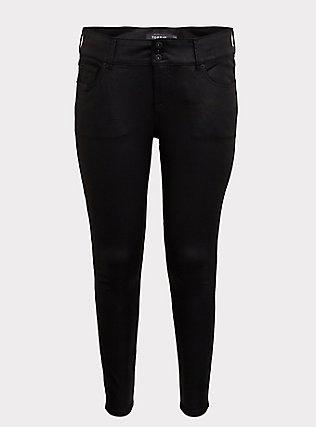 Jegging - Super Stretch Black Coated, COATED, flat