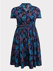 Her Universe Doctor Who TARDIS Collared Swing Midi Dress, PEACOAT, hi-res