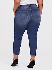 Mid Rise Straight Jean - Vintage Stretch Medium Wash, CLOVERDALE, alternate