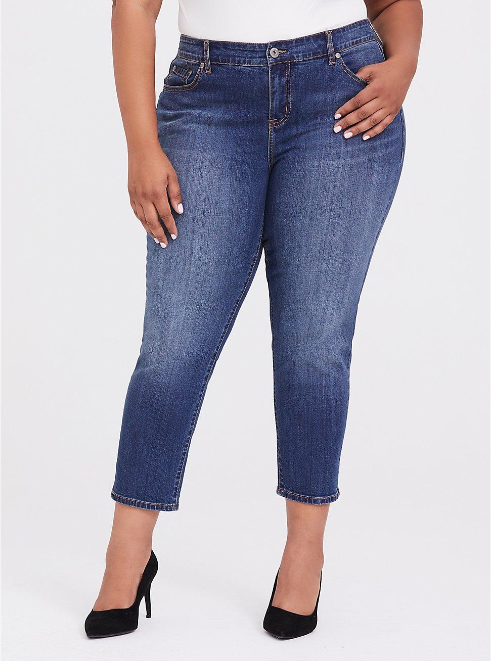 Mid Rise Straight Jean - Vintage Stretch Medium Wash, CLOVERDALE, hi-res