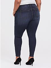 Mid Rise Skinny Jean - Vintage Stretch Dark Wash, MAUI, alternate