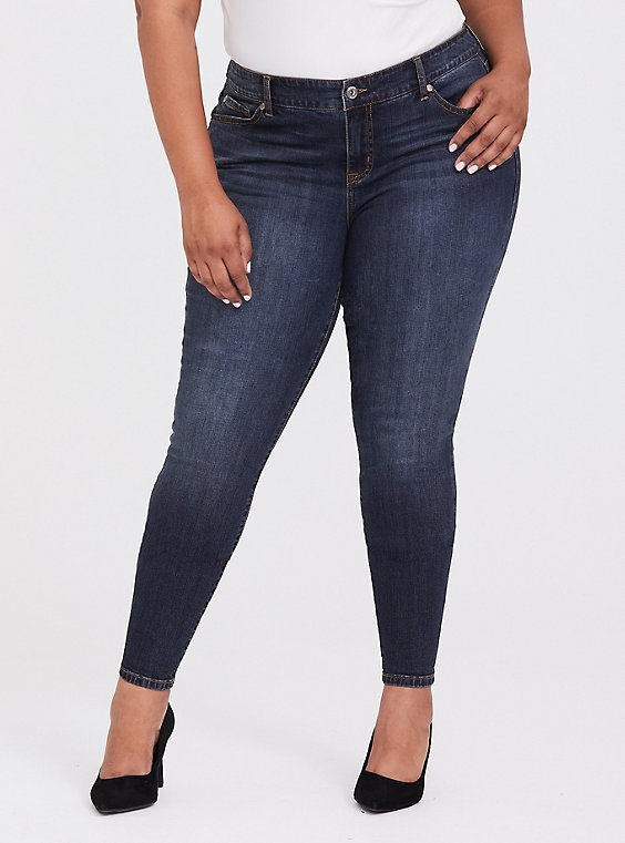 Mid Rise Skinny Jean - Vintage Stretch Dark Wash, , hi-res