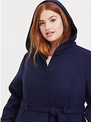 Her Universe Doctor Who TARDIS Blue Hooded Fit & Flare Woolen Trench Jacket, PEACOAT, alternate