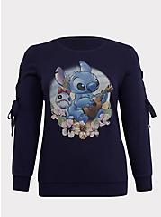 Disney Lilo & Stitch Scrump Navy Lace-Up Sweatshirt, PEACOAT, hi-res
