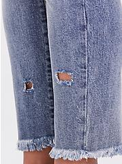 High Rise Straight Jean - Vintage Stretch Light Wash, LAUREL CANYON, alternate