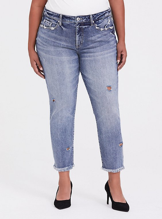 High Rise Straight Jean - Vintage Stretch Light Wash, , hi-res