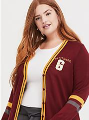 Harry Potter Gryffindor Dark Red Varsity Boyfriend Cardigan, , alternate